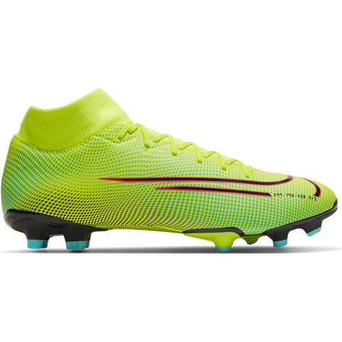 NIKE MEN'S SUPERFLY 7 ACADEMY FG SOCCER CLEAT LEMON/BLACK