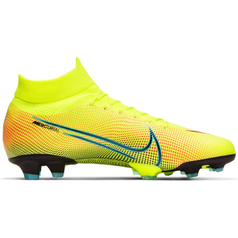 NIKE MEN'S SUPERFLY 7 PRO FG SOCCER CLEAT LEMON/BLACK/GREEN