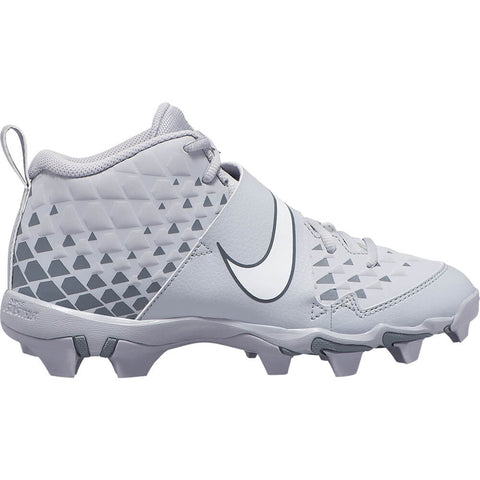 NIKE JUNIOR FORCE TROUT 6 KEYSTONE BG BASEBALL CLEAT GREY/WHITE/GREY