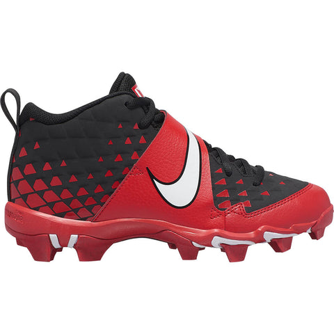 NIKE JUNIOR FORCE TROUT 6 KEYSTONE BG BASEBALL CLEAT RED/WHITE/BLACK