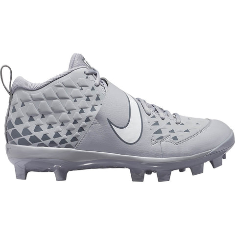 NIKE MEN'S FORCE TROUT 6 PRO MCS BASEBALL CLEAT GREY/WHITE/GREY