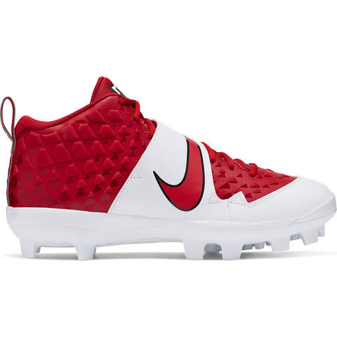 NIKE MEN'S FORCE TROUT 6 PRO MCS BASEBALL CLEAT RED/WHITE