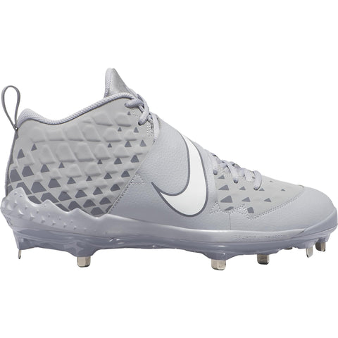 NIKE MEN'S FORCE TROUT 6 PRO BASEBALL METAL CLEAT GREY/BLACK