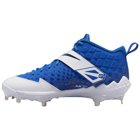 NIKE MEN'S FORCE TROUT 6 PRO BASEBALL METAL CLEAT ROYAL/WHITE