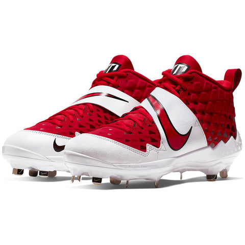 NIKE MEN'S FORCE TROUT 6 PRO BASEBALL METAL CLEAT RED/WHITE