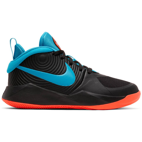 NIKE BOYS GRADE SCHOOL TEAM HUSTLE 9 D KIDS SHOE BLACK/BLUE/HYPER CRIMSON