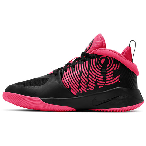 NIKE BOYS GRADE SCHOOL TEAM HUSTLE 9 D KIDS SHOE BLACK/RACER PINK/WHITE