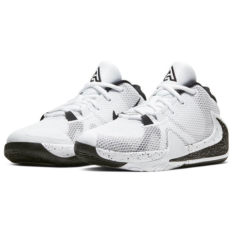 NIKE BOYS GRADE SCHOOL FREAK 1 KIDS SHOE WHITE/WHITE/BLACK