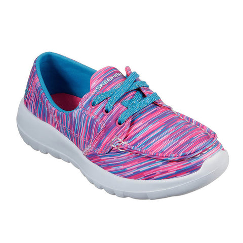 SKECHERS GIRLS PRE-SCHOOL GO WALK JOY - PREPPY STEPS KIDS SHOE HOT PINK/MULTI