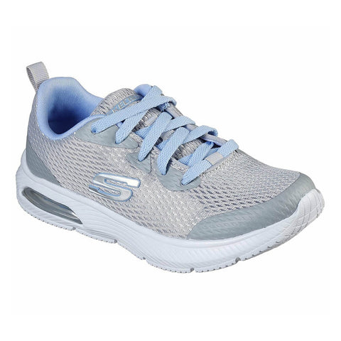 SKECHERS GIRLS PRE-SCHOOL DYNA-AIR - JUMP BRIGHTS KIDS SHOE GREY/LIGHT BLUE