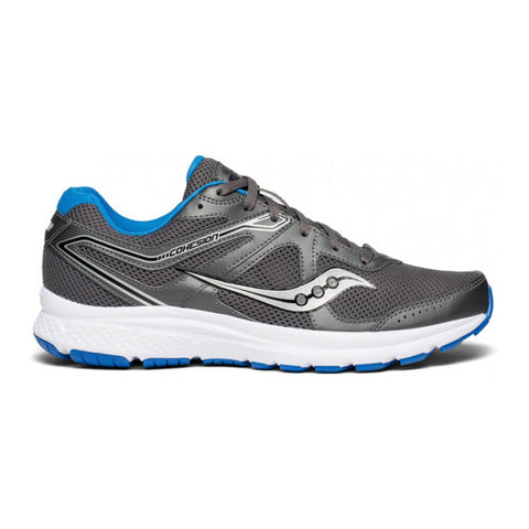SAUCONY MEN'S GRID COHESION 11 RUNNING SHOE CHARCOAL/BLUE