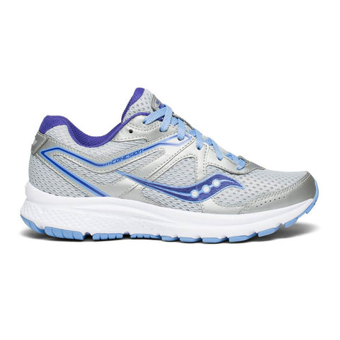 SAUCONY WOMEN'S GRID COHESION 11 RUNNING SHOE GREY/PURPLE