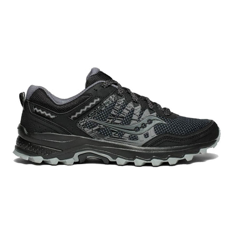SAUCONY MEN'S EXCURSION TR12 RUNNING SHOE BLACK/BLACK