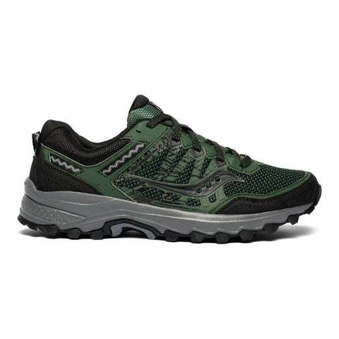 SAUCONY MEN'S GRID EXCURSION TR12 RUNNING SHOE GREEN/BLACK