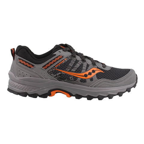 SAUCONY MEN'S EXCURSION TR12 RUNNING SHOE GREY/BLACK/ORANGE