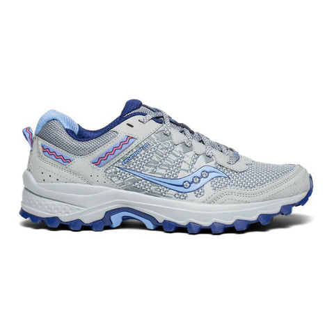SAUCONY WOMEN'S EXCURSION TR12 RUNNING SHOE GREY/BLUE