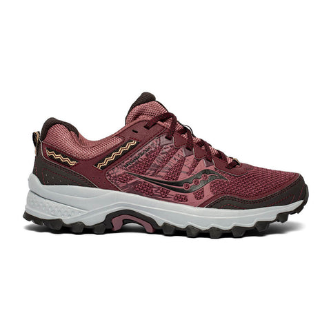 SAUCONY WOMEN'S GRID EXCURSION TR12 RUNNING SHOE BURGUNDY/GREY