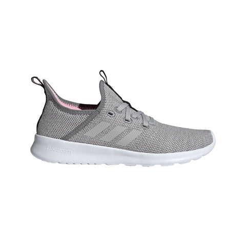 ADIDAS WOMEN'S CLOUDFOAM PURE RUNNING SHOE GREY/GREY/PINK