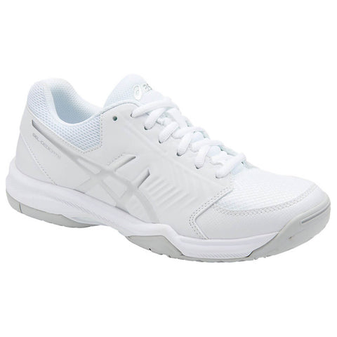 ASICS WOMEN'S GEL DEDICATE 5 TENNIS SHOE WHITE/SILVER