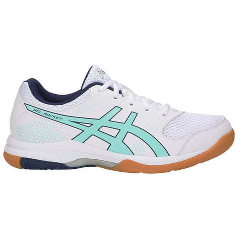 ASICS WOMEN'S GEL ROCKET 8 INDOOR COURT SHOE WHITE/ICY MORN