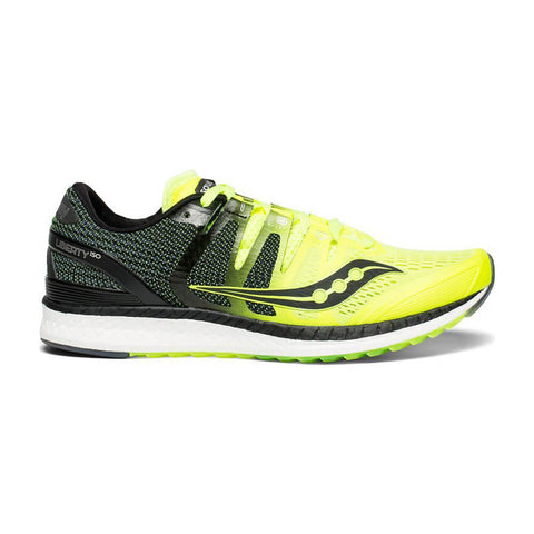 SAUCONY MEN'S LIBERTY ISO RUNNING SHOE CITRON/BLACK