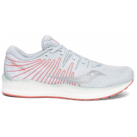 SAUCONY WOMEN'S LIBERTY ISO 2 RUNNING SHOE SKY GREY/CORAL