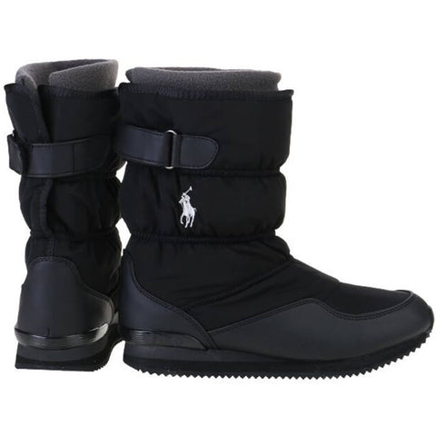 POLO GIRLS SNOW DASH WINTER BOOT BLACK/SILVER PONY
