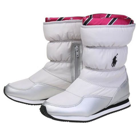 POLO GIRLS SNOW DASH WINTER BOOT SILVER NYLON