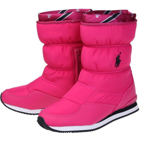 POLO GIRLS SNOW DASH WINTER BOOT HOT PINK NYLON