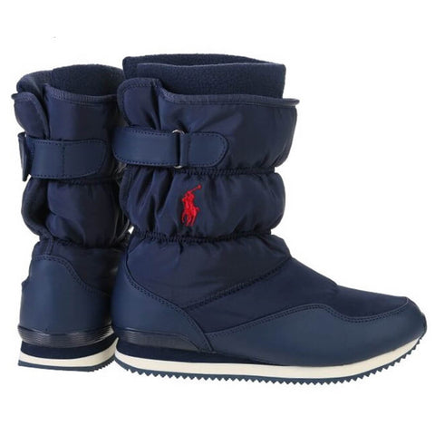 POLO GIRLS SNOW DASH WINTER BOOT NAVY/RED PONY