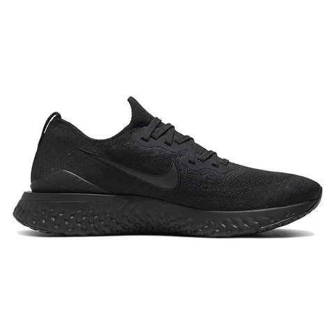 NIKE MEN'S EPIC REACT FLYKNIT 2 RUNNING SHOE BLACK/BLACK/BLACK