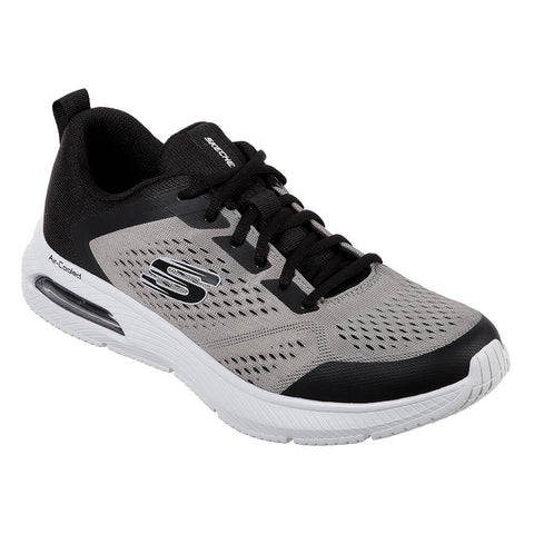 SKECHERS MEN'S DYNA-AIR RUNNING SHOE BLACK/GREY