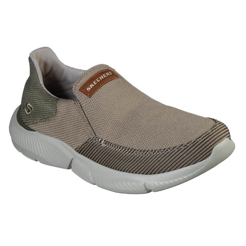 SKECHERS MEN'S INGRAM-SOARD LIFESTYLE SHOE DARK TAUPE