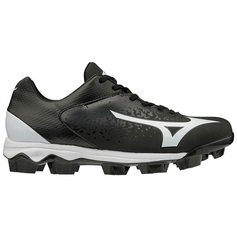 MIZUNO WOMEN'S WAVE FINCH SELECT NINE BASEBALL CLEAT BLACK/WHITE