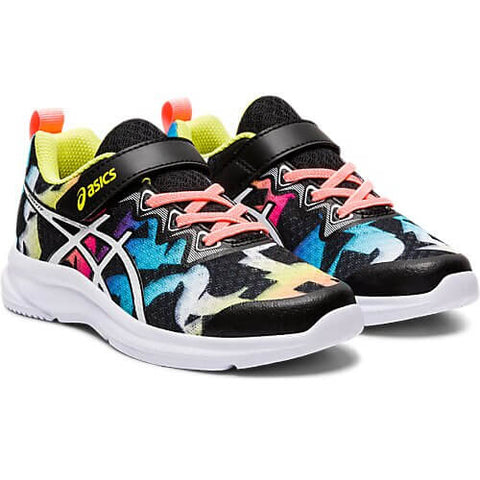 ASICS GIRLS PRE-SCHOOL SOULYTE KIDS SHOE BLACK/SUN CORAL