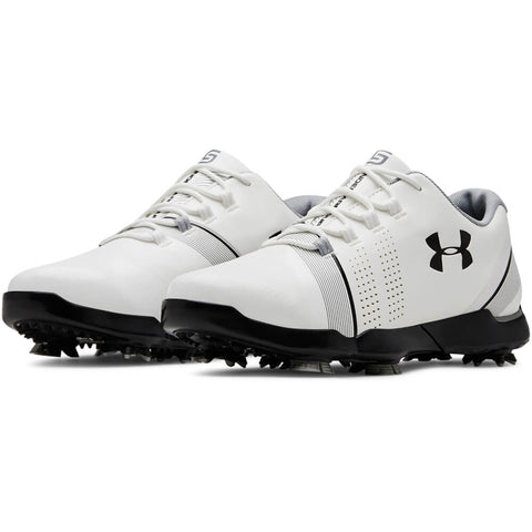 UNDER ARMOUR JUNIOR SPIETH 3 GOLF CLEAT WHITE