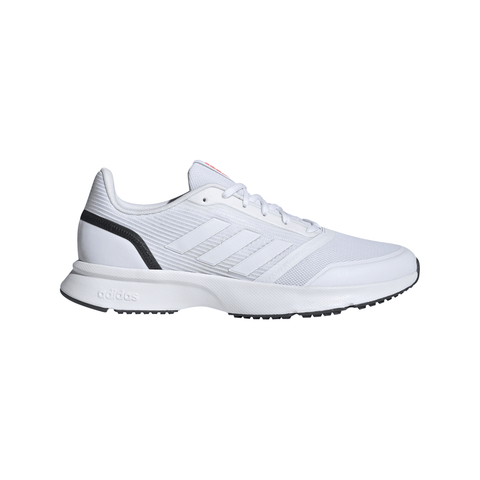 ADIDAS MEN'S NOVA FLOW RUNNING SHOE WHITE/WHITE/GREY