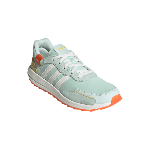 ADIDAS WOMEN'S RETRORUN RUNNING SHOE GREEN/WHITE/ORANGE
