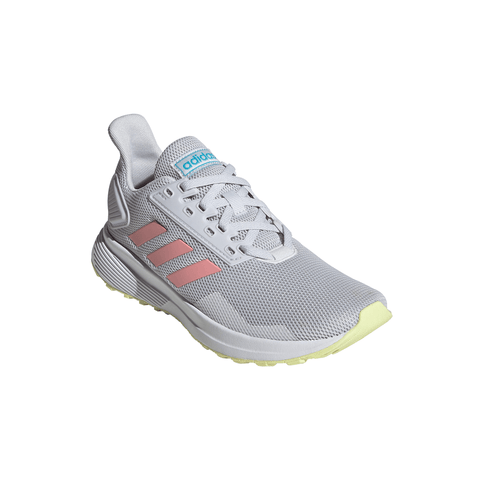 ADIDAS GIRLS GRADE SCHOOL DURAMO 9 KIDS SHOE GREY/PINK/YELLOW