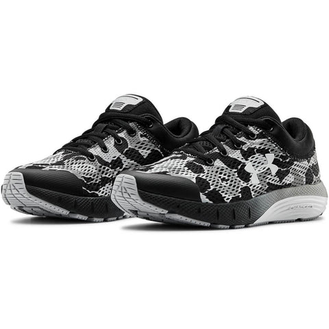 UNDER ARMOUR BOYS GRADE SCHOOL CHARGED BANDIT 5 KIDS SHOE CAMO BLACK/WHITE/GREY