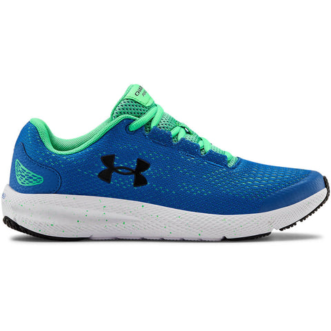 UNDER ARMOUR BOYS GRADE SCHOOL CHARGED PURSUIT 2 KIDS SHOE BLUE/GREEN/BLACK
