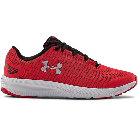 UNDER ARMOUR BOYS GRADE SCHOOL CHARGED PURSUIT 2 KIDS SHOE RED/BLACK/SILVER