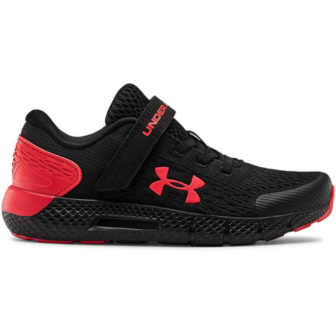 UNDER ARMOUR BOYS PRE-SCHOOL ROGUE 2 AC KIDS SHOE BLACK/RED/RED
