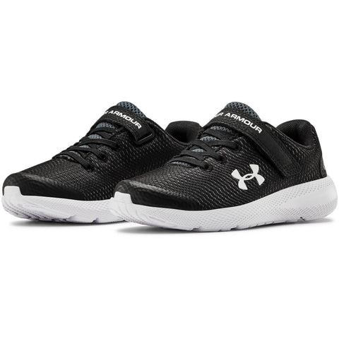 UNDER ARMOUR BOYS PRE-SCHOOL PURSUIT 2 AC KIDS SHOE BLACK/WHITE/WHITE