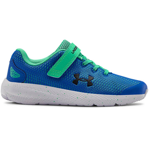 UNDER ARMOUR BOYS PRE-SCHOOL PURSUIT 2 AC KIDS SHOE BLUE/GREEN/BLACK