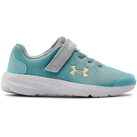UNDER ARMOUR GIRLS PRE-SCHOOL PURSUIT 2 AC KIDS SHOE BLUE/GREY/YELLOW