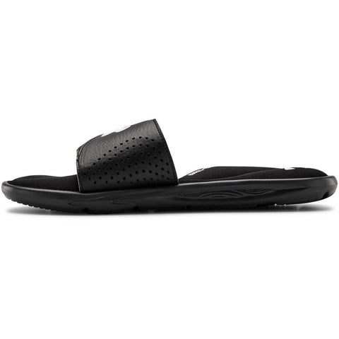UNDER ARMOUR BOYS IGNITE VI SLIDE BLACK/BLACK/WHITE