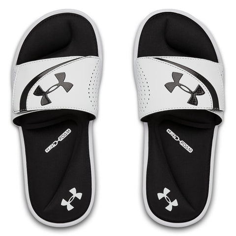 UNDER ARMOUR BOYS IGNITE VI SLIDE WHITE/BLACK/WHITE