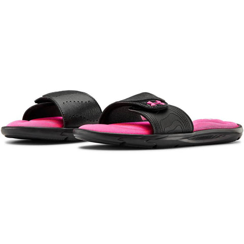 UNDER ARMOUR GIRLS IGNITE XL SLIDE BLACK/PINK/WHITE