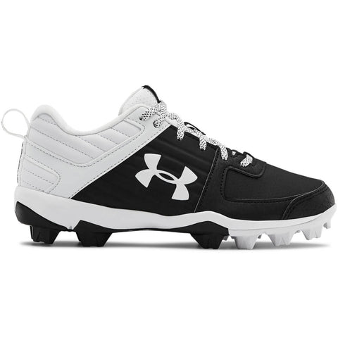 UNDER ARMOUR JUNIOR LEADOFF LOW RM BASEBALL CLEAT BLACK/WHITE